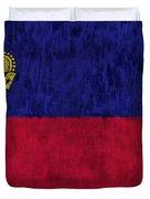 Flag Of Liechtenstein Duvet Cover