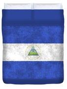 Flag Of Nicaragua Duvet Cover