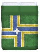 Flag Of Portland Duvet Cover
