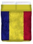Flag Of Romania Duvet Cover
