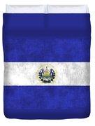 Flag Of Salvador Duvet Cover