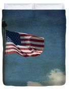 Flag - Still Standing Proud - Luther Fine Art Duvet Cover