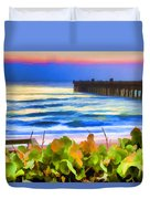 Flagler Beach Beautiful Duvet Cover