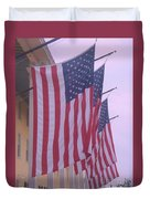 Flags At Cape May Nj Duvet Cover