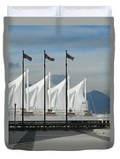 Flags At The Sails  Duvet Cover