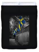 Flags Of Sweden Duvet Cover