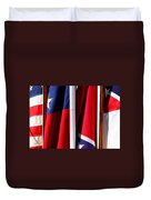 Flags Of The North And South Duvet Cover
