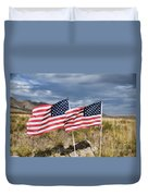 Flags On Antelope Island Duvet Cover