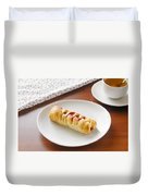Flaky Pastry With Cherry Jam Duvet Cover