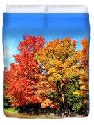 Flamboyant Autumn Duvet Cover