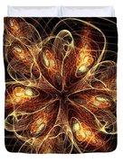 Flame Flower Duvet Cover