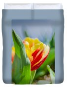 Flame Leaf Tulip Duvet Cover