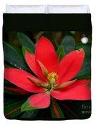 Flame Of Jamaica Duvet Cover