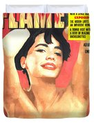 Flame - Vintage Magazines Covers Series Duvet Cover