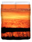 Flamed Sunset Duvet Cover
