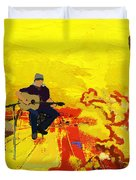 Flamenco Dancer 018 Duvet Cover by Catf