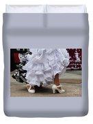 Flamenco Dancer In White Duvet Cover