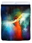 Flamencoscape 01 Duvet Cover