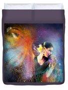 Flamencoscape 04 Duvet Cover