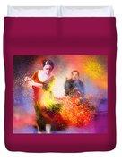 Flamencoscape 11 Duvet Cover