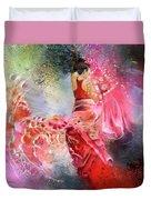 Flamencoscape 13 Duvet Cover