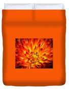 Flaming Dahlia - Paintography Duvet Cover