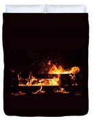 Flaming Darkness Duvet Cover