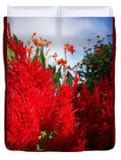 Flaming Feathered Flower Power Duvet Cover