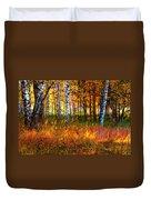 Flaming Grass Duvet Cover