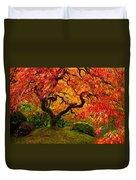 Flaming Maple Duvet Cover