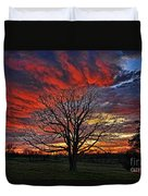 Flaming Oak Sunrise Duvet Cover