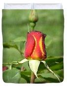 Flaming Rose Duvet Cover