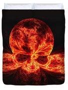 Flaming Skull Duvet Cover