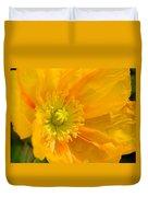 Flaming Yellow Poppy  Duvet Cover