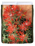 Flaming Zion Paintbrush Wildflowers Duvet Cover