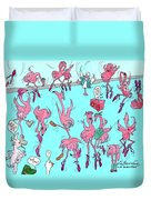 Flamingo A Go Go Duvet Cover