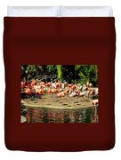 Flamingo Family Reunion Duvet Cover