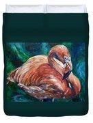 Flamingo Flare Duvet Cover