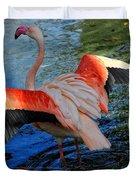 Flamingo Flight Duvet Cover