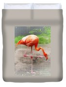 Flamingo Four Duvet Cover