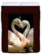 Flamingo Heart Duvet Cover