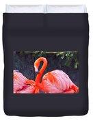 Flamingo In The Wild Duvet Cover