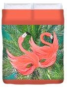 Flamingo Mask 1 Duvet Cover