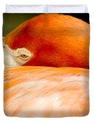 Flamingo Napping Duvet Cover