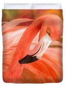 Flamingo - Spirit Of Balance Duvet Cover