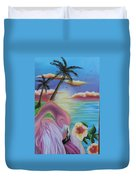 Flamingo Sunset Duvet Cover