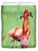 Flamingo Twist Duvet Cover by Jeff Kolker