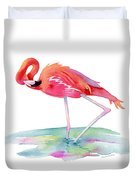 Flamingo View Duvet Cover