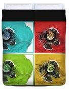 Flanders Poppy Pop Art Duvet Cover