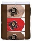 Flanders Poppy Triptych Duvet Cover